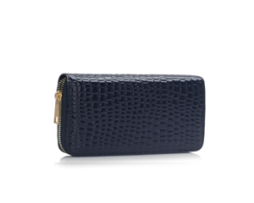 Fashion Only Croco Wallet - navy