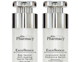 Skin Pharmacy Set séra s obsahem včelího jedu a séra s kyselinou hyaluronovou EXCELLENCE Bee Venom Anti-Ageing Facial Serum + EXCELLENCE Hyaluronic Acid Radiance Serum