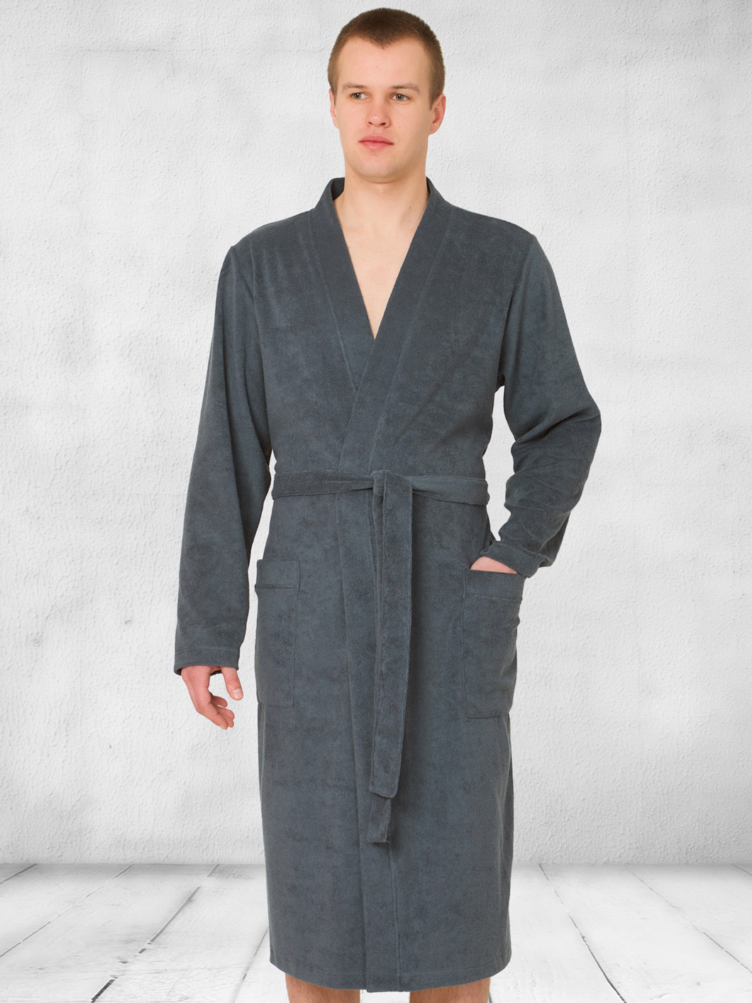 Family pyjamas Pánský župan DRESSING GOWN 401 GREY